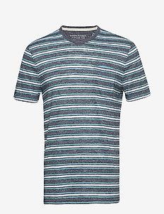 Vintage Crew-Neck T-Shirt - PREPPY NAVY
