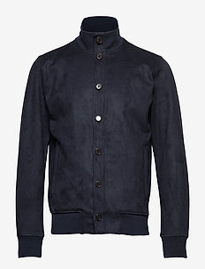 Vegan Suede Jacket - PREPPY NAVY