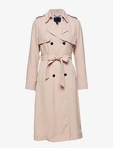 Maxi Trench Coat - trenchcoats - pink blush