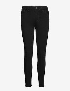 Mid-Rise Skinny Fade-Resistant Ankle Jean - skinny jeans - black k-100