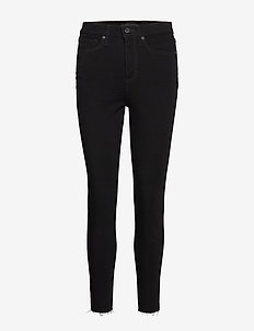 High-Rise Skinny Fade-Resistant Ankle Jean - BLACK K-100
