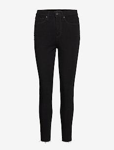 High-Rise Skinny Fade-Resistant Ankle Jean - skinny jeans - black k-100
