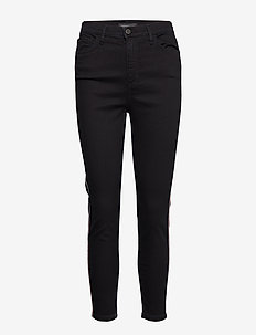 High-Rise Skinny Side-Stripe Cropped Jean - skinny jeans - clean rinse