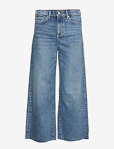 High-Rise Wide-Leg Cropped Jean - MEDIUM BLUE VINTAGE