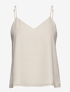 Solid Strappy Camisole - sleeveless tops - snow day