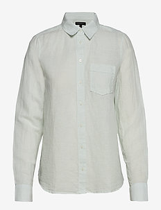 Quinn Straight-Fit Linen-Cotton Shirt - CHAMBRAY BLUE 864