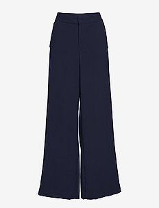 High-Rise Wide-Leg Side-Stripe Pant - PREPPY NAVY