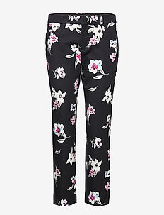 Sloan Skinny-Fit Floral Ankle Pant - black k-100