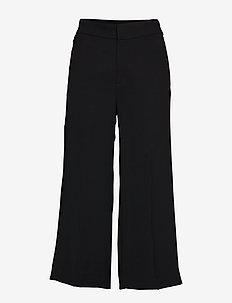 High-Rise Wide-Leg Cropped Pant - BLACK