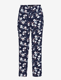 Avery Straight-Fit Floral Ankle Pant - BLUE MULTI