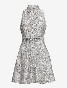 Floral Shirt Dress - shirt dresses - cream