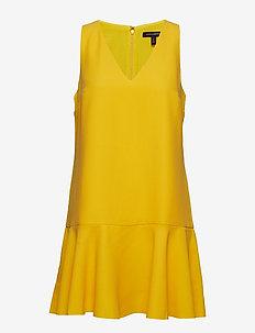 Drop-Waist Shift Dress - SUNGLOW YELLOW