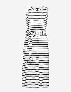 Stripe Ponte Tank Dress - PREPPY NAVY