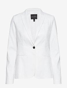 Classic-Fit Linen-Cotton Blazer - vestes tailleur - vwhite