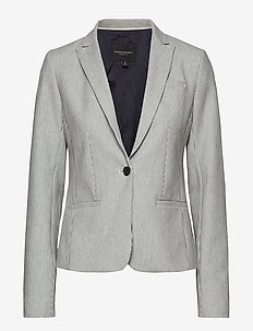 Classic-Fit Stripe Blazer - PREPPY NAVY