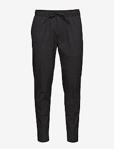Slim Lightweight Drawstring Suit Pant - casual - dark charcoal