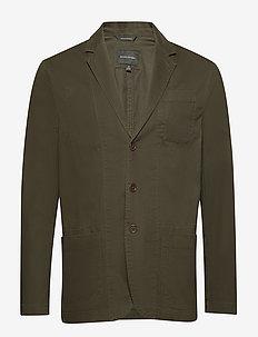 Slim Utility Blazer - single breasted blazers - deep olive 415