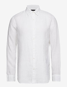 Slim-Fit Linen Shirt - VWHITE