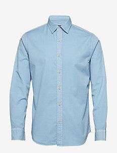 Slim-Fit Cotton Twill Shirt - BLUE RAVINE