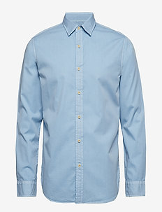 Slim-Fit Cotton Twill Shirt - BLUE RAVINE