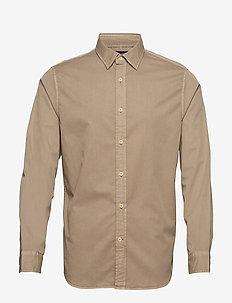 Slim-Fit Cotton Twill Shirt - LT KHAKI F99