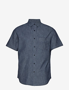 Slim-Fit Chambray Shirt - DARK WASH