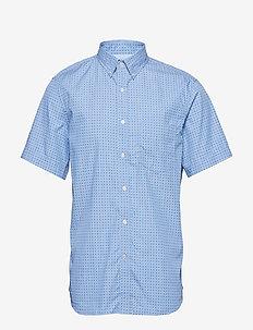 Slim-Fit Luxe Poplin Print Shirt - BR GEO PRINT BLUE