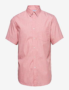 Slim-Fit Luxe Poplin Print Shirt - BR GEO PRINT PINK