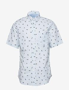 Slim-Fit Luxe Poplin Print Shirt - BR PALM PRINT