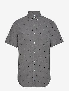 Slim-Fit Luxe Poplin Print Shirt - SAFARI ZOO PRINT COOL