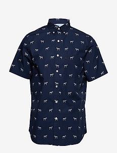 Slim-Fit Luxe Poplin Print Shirt - VZEBRA PRINT