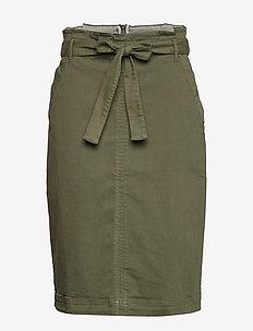 Paper-Bag Waist Skirt - FLIGHT JACKET