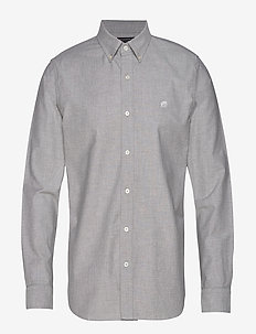 JAPAN EXCLUSIVE Slim-Fit Cotton Oxford Shirt - GREY HEATHER