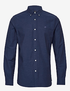 JAPAN EXCLUSIVE Slim-Fit Cotton Oxford Shirt - NAVY HEATHER