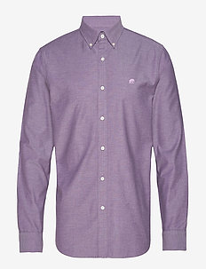 JAPAN EXCLUSIVE Slim-Fit Cotton Oxford Shirt - PURPLE HEATHER B5524