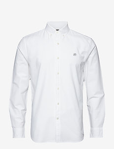 JAPAN EXCLUSIVE Slim-Fit Cotton Oxford Shirt - VWHITE