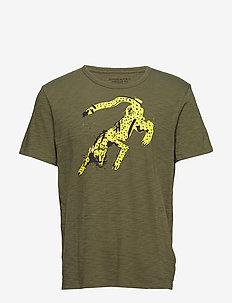 Cheetah Graphic T-Shirt - ADIRONDACK GREEN