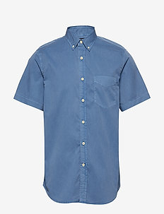 Slim-Fit Cotton Twill Shirt - oxford skjorter - indigo fog global