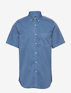 Slim-Fit Cotton Twill Shirt - oxford shirts - indigo fog global