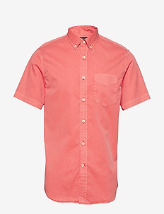 Slim-Fit Cotton Twill Shirt - NEON CORAL REEF