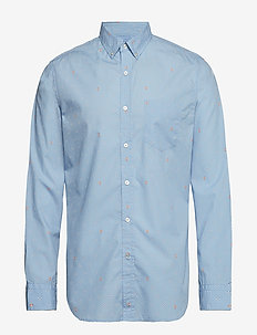Standard-Fit Luxe Poplin Shirt - oxford skjorter - cool lake blue