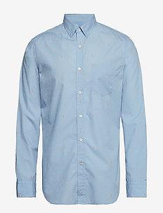 Standard-Fit Luxe Poplin Shirt - COOL LAKE BLUE