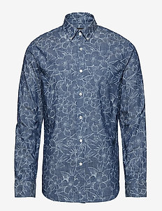 Slim-Fit Chambray Shirt - FLORAL PRINT