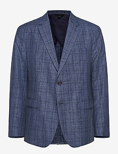 Slim Italian Wool-Cotton Blazer - NAVY