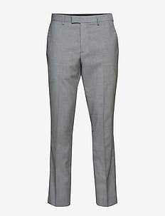 Slim Italian Wool Suit Pant - LIGHT GREY