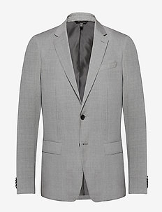 Slim Italian Wool Suit Jacket - enkeltradede jakkesæt - light grey