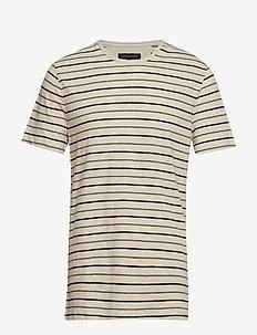 Linen-Cotton Crew-Neck T-Shirt - OATMEAL