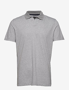 Luxury-Touch Polo - À manches courtes - grey heather bc09