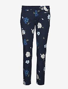 Sloan Skinny-Fit Floral Pant - bukser med lige ben - preppy navy