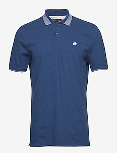 I BRANDED PIQUE BIRDSEYE TIPPED POLO - PACIFIC BLUE